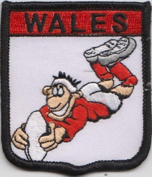 Wales Rugby Union Flag Embroidered Patch (a316)