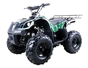 """125cc Four Wheelers 8"""" Tires with Reverse, Black"""