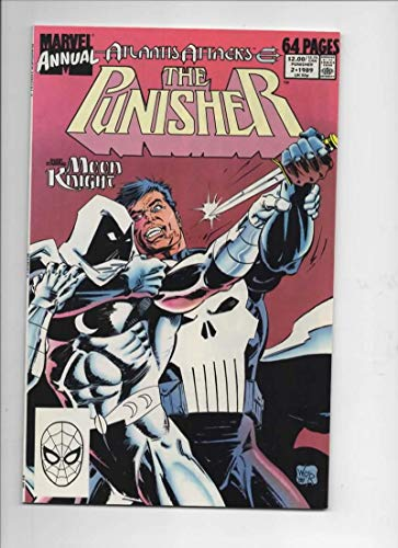 PUNISHER #2, Annual, NM, Moon Knight, Atlantis, Frank Castle, 1989, more in store