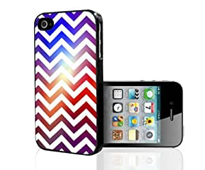 Colorful Gradient Chevron Print Hard Snap on Phone Case (iPhone 5/5s)