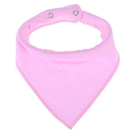 Everpert - Toalla triangular de algodón para bebé, diseño de bebés rosa rosa