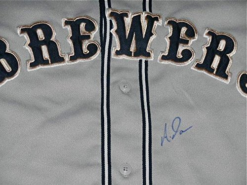raphed Jersey (brewers) W/Proof! - Autographed MLB Jerseys ()