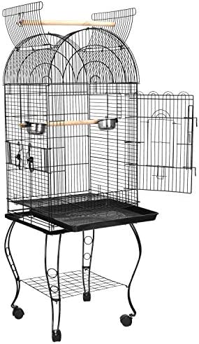 ZENY 63.5 Pet Bird cage Large Play Top Parrot Cockatiel Cockatoo Parakeet Finch Pet Supply