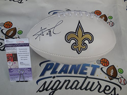 Alvin Kamara signed New Orleans Saints logo football JSA COA ()