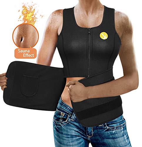 (Body Shaper Slimming Sauna Vest for Women Hot Sweat Neoprene Weight Loss Workout Tank Top Shirt Clothes (Black, S))