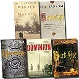 The Matthew Shardlake Series Collection C. J. Sansom 5 Books Set (Dominion, Heartstone, Sovereign, Dark Fire, Winter in Madrid)