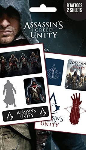 Assassins Creed Tattoo Pack Unity Mix 8 Tattoos 7 X 4 Inches
