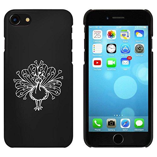 Noir 'Paon de Coeur' étui / housse pour iPhone 7 (MC00061531)
