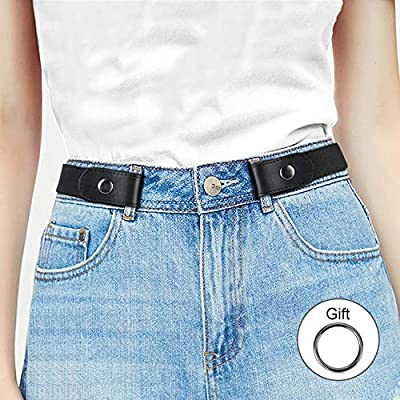 Buckle Free Comfortable Elastic Belt for Women or Men, Buckle-less No Bulge No Hassle Invisible Belts by WHIPPY