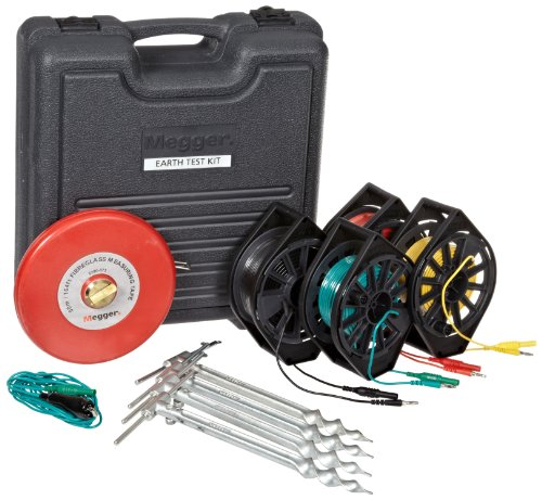 Megger 6320-245 Professional Ground Test Kit for DET3 & DET4 Series Ground Resistance Testers by Megger