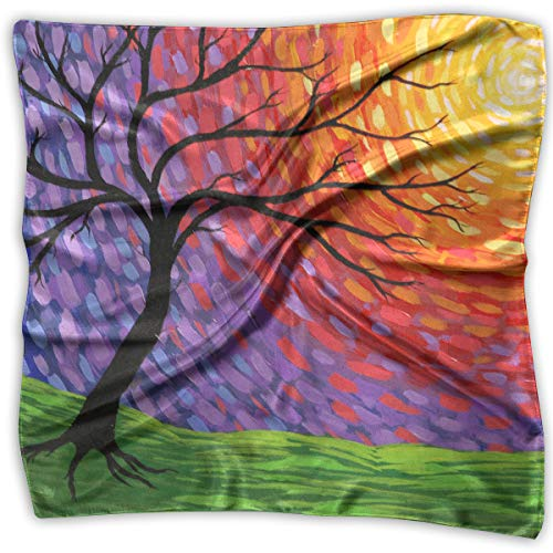 Polyester Lady's Handkerchief Scarf Women¡¯s Color Tree Of