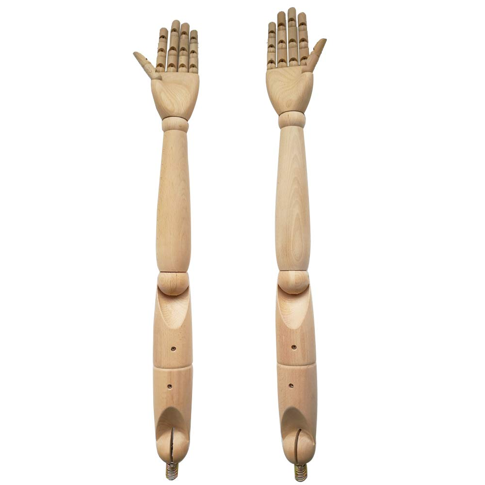 KUKIN マネキンアーム トルソー 可動腕 木製 天然木 高級品 (紳士用) 紳士用  B07J49H3VP