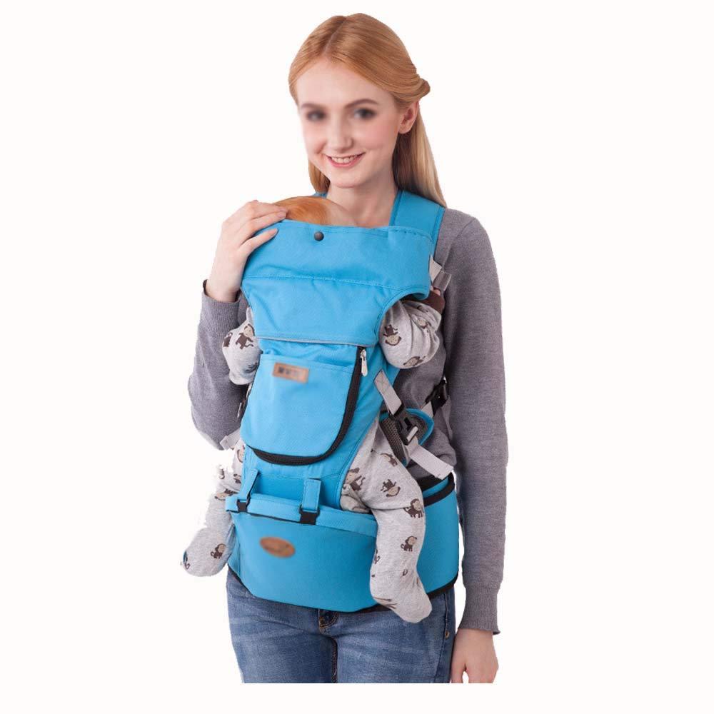 AXIANQI Portabebés EPP Taburete Núcleo 0-4 Años De Edad Protección Multifuncional Medio Ambiente Cinturón De Seguridad Infantil A (Color : Azul)