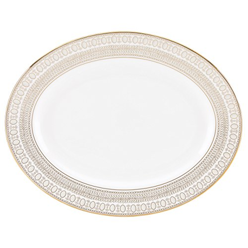 Lenox Marchesa Gilded Pearl Oval Platter, 13