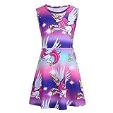 Freebily Kids Girls Cartoon Dress Rainbow Easter Party Fairy Dress Costumes Colorful(Type B) 7-8