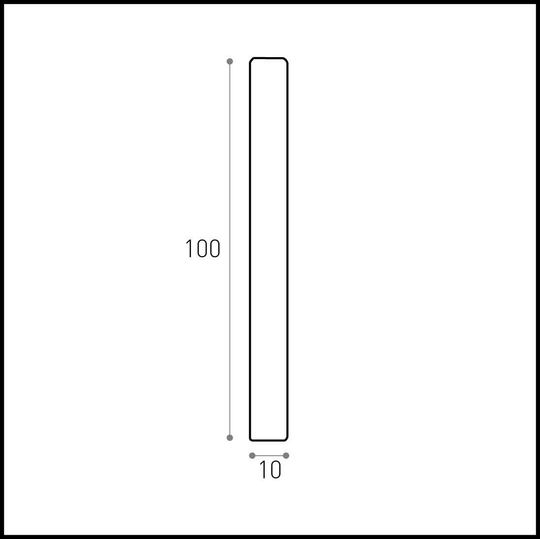 100X10X3000 Hobby Legno Prezzo Per ml. 6 Battisedia Massello In Legno Ayous Non Verniciato mm