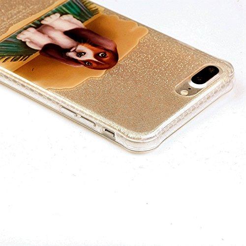 Funda iPhone 7 Plus Sunroyal - Funda de Silicona de gel TPU Semitransparent Flexible Carcasa iPhone 7 Plus Ultra Delgada Caja del Teléfono , Resistente a los Arañazos , Amortigua los Golpes , Protecto D-08