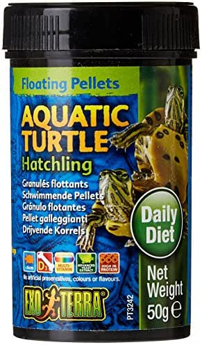 Josh's Frogs Products Exo Terra Aquatic Turtle Hatchling Floating Pellets (1.7 oz)