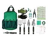 Gardening Tools Set,13 Piece Garden Kit Includes 6 Hand Tools , Garden Storage Tote, Sprayer Bottle,Garden Gloves ,Seeds Bag,Plant Labels,Garden Tie and Calendar By Ayuboom