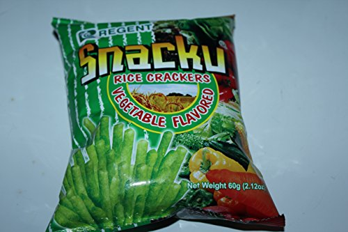 Regent Snacku Rice Crackers Vegetable flavored Pack of Ten 60g A Pack Flavored Crackers