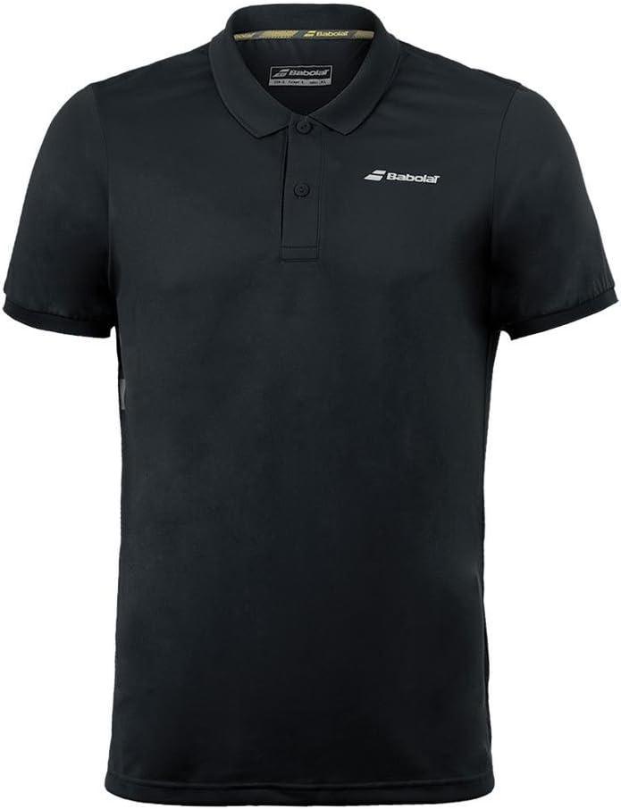 Babolat Polo Club Core Hombre Tenis Ropa Negro, Todo el año, Color ...