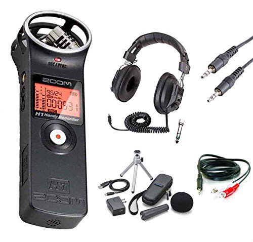 Zoom H1 Digital Recorder Bundle with Zoom APH-1 Accessory Pack and Headphones by Zoom