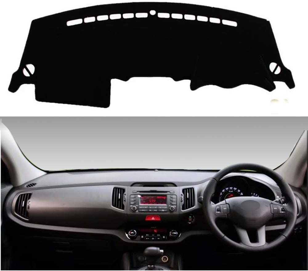 WXHHH for Kia Sportage R 2010 2011 2012 2013 2014 2015, Car Dashboard Cover Mat Carpet Car Instrument Panel Light Proof Pad