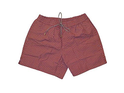 Brioni Men's Pink Geometric Print Swim Shorts L by Brioni
