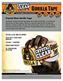 "Gorilla Crystal Clear Duct Tape, 1.88"" x 18"
