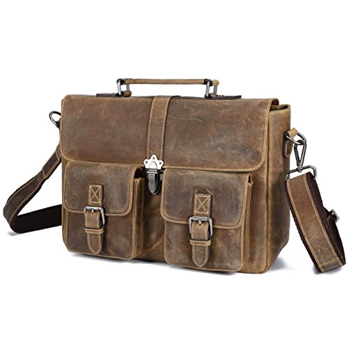 Expandable Leather Computer Backpack - 5