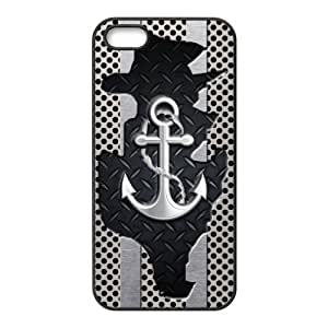 Anchor Protective Rubber Printed Cover Case for iPhone 5,iPhone 5s Cases for Guys