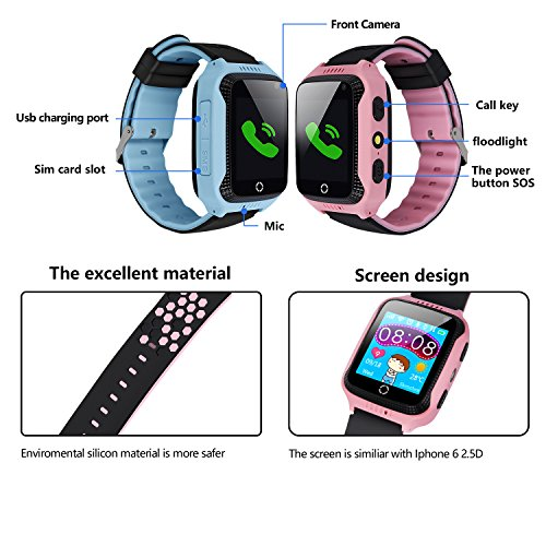 Yongkaida Smart Watch Kids Smartwatch GPS Tracker SOS Call Anti-lost ...
