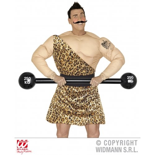 Children's Strong Man Costume (Retail Zone Men's Inflatable Gym Weight Dumbell Strong Man Prop 120C Long Large Multi)