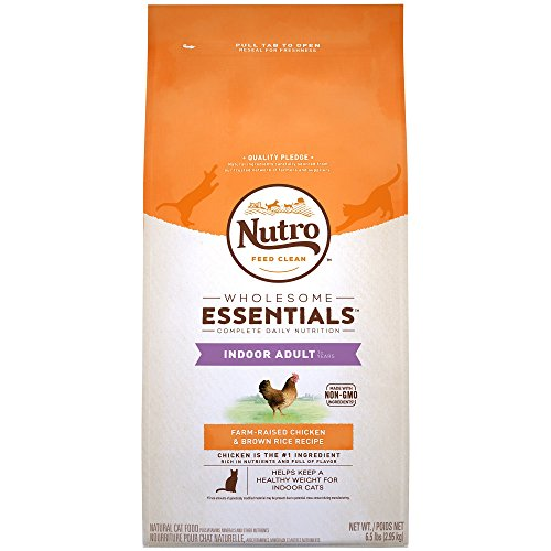 Nutro Indoor Adult Cat Chicken And Whole Brown Rice Recipe Cat Food 6.5 Pounds For Sale