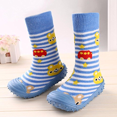 ... wuayi Adorable Lange Schuhe Sneaker Neugeborenen Baby Baumwolle Cartoon  Bodenbelag Anti Skid Gummi Weiche Blau ...