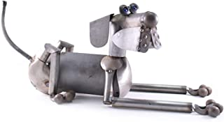 """product image for Modern Artisans Scrappy The Dog Reclaimed Metal Garden Sculpture, American Made, 26"""" x 9"""""""