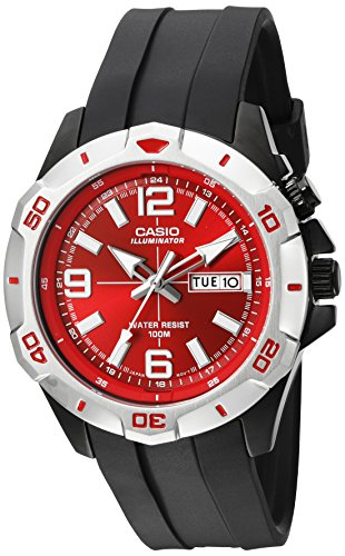 Casio Men's MTD1082-4AV Super Illuminator Analog Quartz Black Resin Watch - Mens Quartz Black Resin