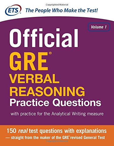Official GRE Verbal Reasoning Practice Questions Volume 1 (1st 2014) [ETS]