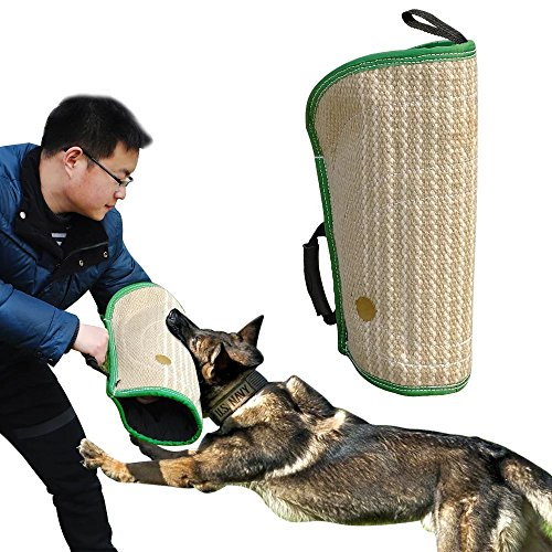 Didog Dog Bite Sleeves Tugs for Young Dogs Work Dog Puppy Training Playing,Fit Pit Bull German Shepherd Mastiff,Professional Intermediate for Both Left and Right Hand (Best Dog Toys For German Shepherds)