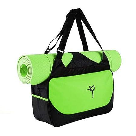 Bolsa para esterilla de yoga, impermeable, para deporte, gimnasio, fitness, bolsa de mano verde