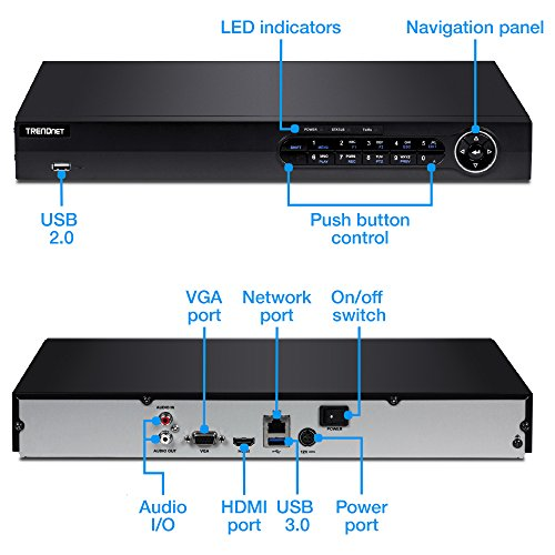 TRENDnet 16-Channel 1080p HD Network Video Recorder, 2 SATA II Bays for up to 12 TB Storage, Easy Install, HDD, Rack Mount hardware included, ONVIF, IPv6 Compliant, TV-NVR2216 by TRENDnet (Image #1)