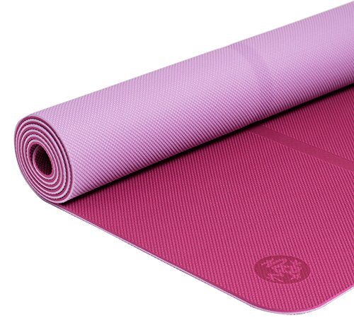 Manduka Welcome Yoga and Pilates Mat, Magenta Haze, 5mm, 68