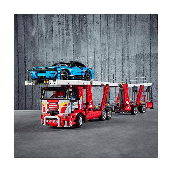 LEGO - Technic Bisarca con Auto da Trasportare,Modello 2in1,Set di Costruzioni Avanzato, 42098 2 spesavip