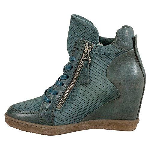 Miz Mooz Adela Perf Womens Sneaker Wedge Sky