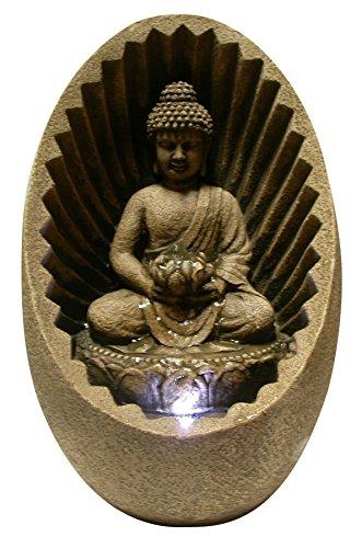 Alpine WIN322 Buddha Tabletop Fountain with LED - Buddha Water Fountain