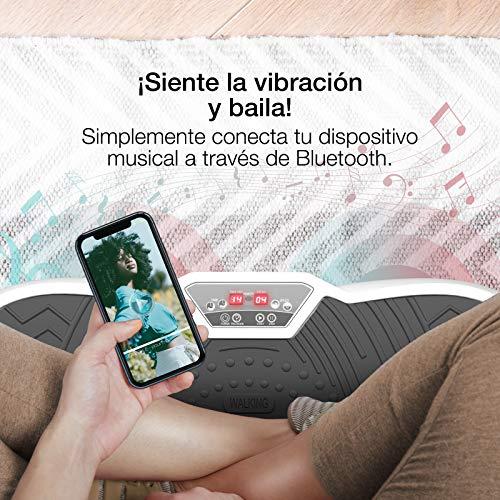 Sportstech Plataforma vibratoria VP200 Bluetooth, innovadora tecnología de oscilación para Uso doméstico+póster de Entrenamiento+Cuerdas de ...