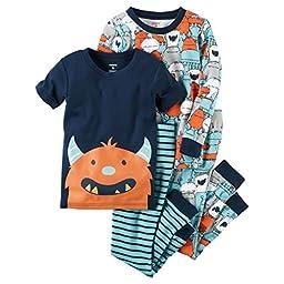 Carters Baby Boys\' Sport Pajama 4-Piece Set (4)