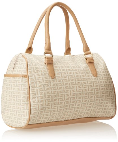Tommy Hilfiger Coated Classics Converitble Top Handle Bag,Biscuit Tonal,One Size
