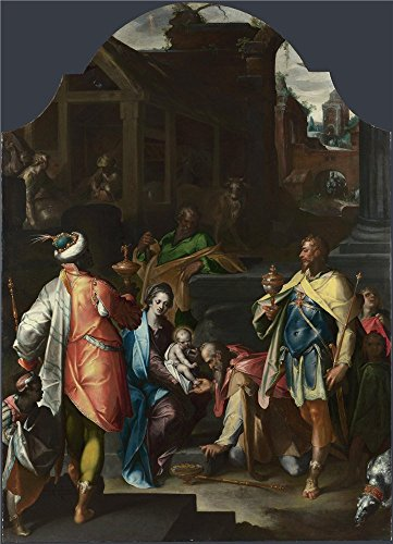 Bartholomaeus Spranger The Adoration Of The Kings   Oil Painting  12 X 17 Inch   30 X 42 Cm  Printed On High Quality Polyster Canvas  This High Resolution Art Decorative Canvas Prints Is Perfectly Suitalbe For Study Artwork And Home Decor And Gifts