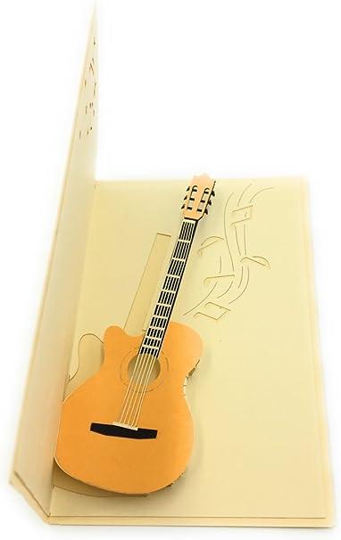 Guitarra eléctrica 3d tarjeta de felicitación – Ideal para músicos ...